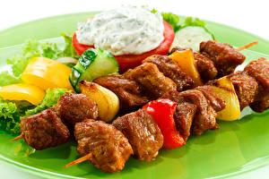 Papel de Parede Desktop Produtos de carne Shashlik Hortaliça comida
