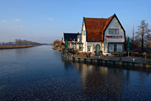 Wallpapers Netherlands Houses Rivers Cafe Oudendijk
