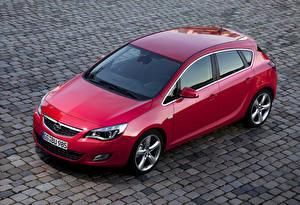 Sfondi desktop Opel Rosso Metallizzato 2009-12 Astra