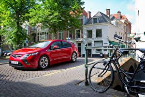 Sfondi desktop Opel Rosso Metallizzato 2011-15 Ampera Auto