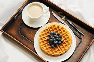 Picture Pastry Coffee Blueberries Cup