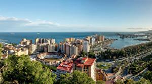 Hintergrundbilder Spanien Gebäude Wege Küste Bootssteg Malaga Andalusia Städte