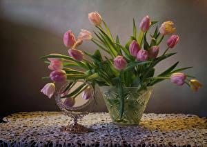 Wallpaper Still-life Tulips Vase Mirror flower