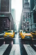 Sfondi desktop Taxi - Auto Stati uniti Strade New York Via della città NY taxi Città Auto