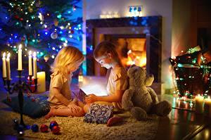 Hintergrundbilder Teddybär Zwei Kleine Mädchen Kinder