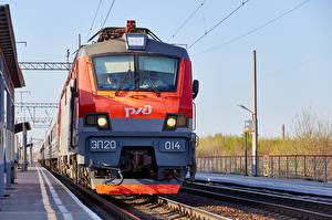 Hintergrundbilder Züge Lokomotive Russische Vorne