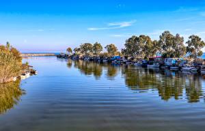 Hintergrundbilder Türkei Küste Seebrücke Schiff Motorboot Bucht Anamur Mersin Natur