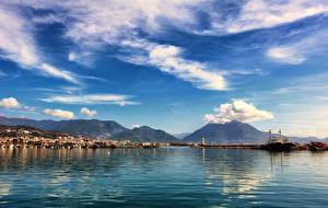Hintergrundbilder Türkei Haus Schiffsanleger Gebirge Himmel Bucht Wolke Carsi Alanya Antalya Städte