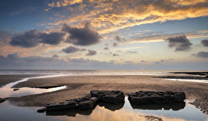 Hintergrundbilder Vereinigtes Königreich Küste Himmel Steine Wolke Wales Dunraven Bay Natur