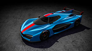 Wallpaper Pininfarina Light Blue 2018 H2 Speed