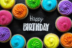 Bilder Geburtstag Cupcake Englisch Lebensmittel