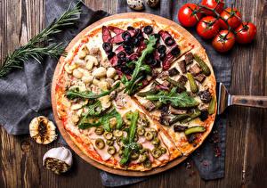 Hintergrundbilder Fast food Pizza Tomate Oliven das Essen
