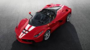 Wallpaper Ferrari Red Metallic 2017 LaFerrari Aperta auto