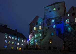 Wallpapers Finland Castles Night Turun linna Turku Cities