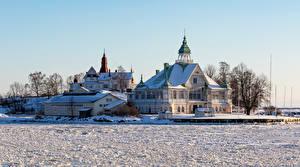 Fotos Finnland Helsinki Haus Winter Eigenheim Schnee Städte