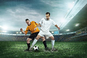 Hintergrundbilder Fußball Mann Regen 2 Rasen Sport