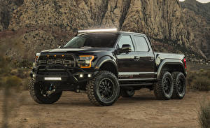 Image Hennessey Ford Black Metallic Pickup 2017-18 Hennessey VelociRaptor 6x6 automobile