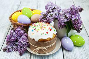Bilder Feiertage Ostern Backware Kulitsch Syringa Bretter Ei Design