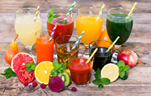 Images Juice Drinks Fruit Vegetables Apples Boards Highball glass Stemware Food