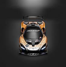 Fotos McLaren Tuning Grauer Hintergrund Von oben 2018 Senna GTR Concept auto