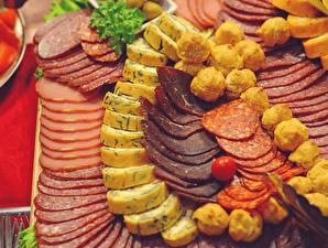 Hintergrundbilder Fleischwaren Wurst Käse Schinken Geschnittene Lebensmittel