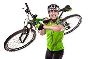 Bilder Mann Fahrrad Helm Sport