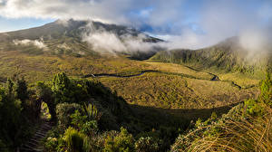 Hintergrundbilder Neuseeland Gebirge Mount Egmont Taranaki Natur