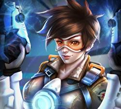 Wallpapers Overwatch Glasses Widowmaker Games Girls