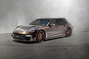 Bilder Porsche Fahrzeugtuning Braun 2018 Mansory Panamera Sport Turismo Autos