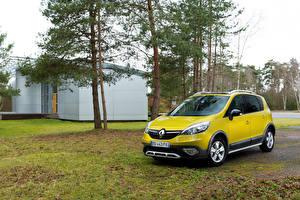 Papel de Parede Desktop Renault Amarelo 2013 Scenic XMOD automóvel