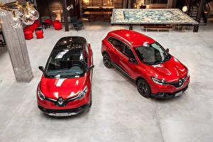Tapety na pulpit Renault Czerwony Dwa 2 Metaliczna 2016 Captur  Hypnotic and Kadjar  Hypnotic samochód