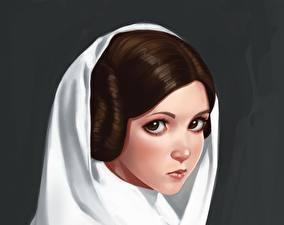 Hintergrundbilder Star Wars  - Film Starren Fan ART by ivantalavera, Leia Fantasy Mädchens
