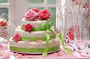 Fotos Süßware Torte Rosen Design