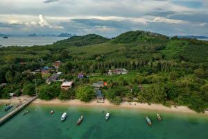 Sfondi desktop Thailandia Tropici La costa Foresta Edificio Golfo Naka Island Phuket Natura