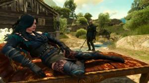 Fotos The Witcher 3: Wild Hunt Yennefer, Geralt of Rivia Spiele Mädchens 3D-Grafik