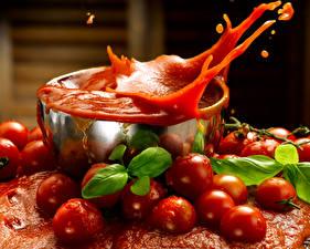 Bilder Tomate Saft Wasser spritzt Lebensmittel