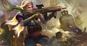 Fotos Krieger Sturmgewehr Homefront The Revolution Spiele Mädchens