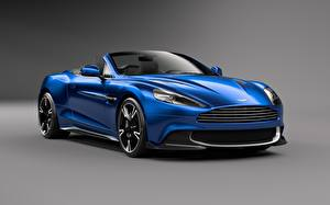 Pictures Aston Martin Blue Convertible Volante Vanquish S Cars