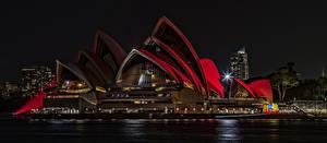 Fotos Österreich Sydney Nacht Opera House Autos