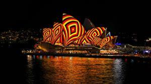 Hintergrundbilder Österreich Sydney Nacht Opera House