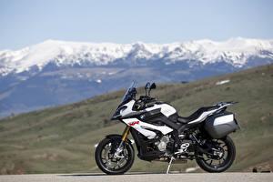 Hintergrundbilder BMW - Motorrad Seitlich Weiß 2015-16 S 1000 XR