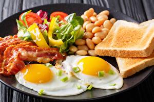 Bilder Brot Fleischwaren Gemüse Frühstück Spiegelei