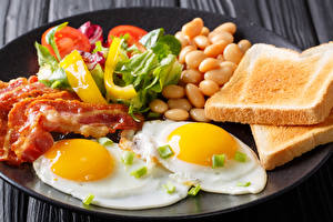 Wallpapers Bread Meat products Vegetables Breakfast Fried egg Food