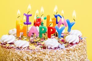 Fotos Torte Kerzen Geburtstag Großansicht