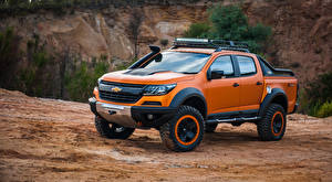 Bilder Chevrolet Orange Pick-up 2016 Colorado Xtreme Concept