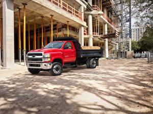Bilder Chevrolet Lastkraftwagen Rot 2019 Silverado 6500HD Dump Truck Autos