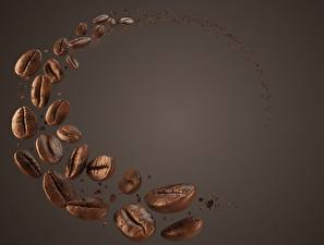Pictures Coffee Closeup Grain Colored background