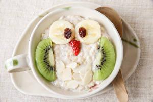 Hintergrundbilder Kreative Eule Kiwifrucht Bananen Rosinen Lebensmittel