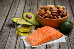 Picture Fish - Food Nuts Avocado Salmon Filbert nut Oil