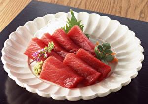 Fotos Fische - Lebensmittel Teller Lebensmittel